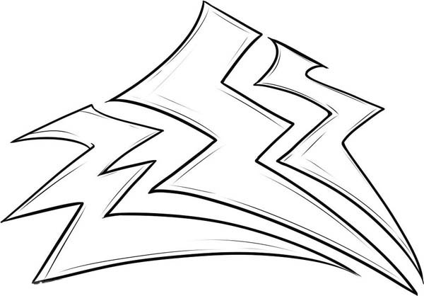 Lightning Bolt, : Storm Lighting Bolt Coloring Page