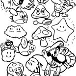 Mario Brothers, Super Mario Brothers All Characters Coloring Page: Super Mario Brothers All Characters Coloring Page