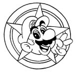 Mario Brothers, Super Mario Brothers Galaxy Coloring Page: Super Mario Brothers Galaxy Coloring Page
