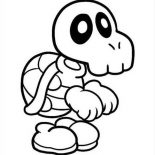 Mario Brothers, Super Mario Brothers Skull Of Turtle Coloring Page: Super Mario Brothers Skull of Turtle Coloring Page
