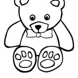 Teddy Bear, T Is For Teddy Bear Coloring Page: T is for Teddy Bear Coloring Page