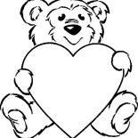 Teddy Bear, Taking Care Of Teddy Bear Coloring Page: Taking Care of Teddy Bear Coloring Page