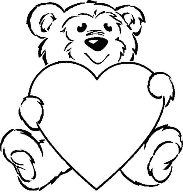 Teddy Bear, : Taking Care of Teddy Bear Coloring Page