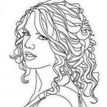 Taylor Swift, Taylor Swift Coloring Page: Taylor Swift Coloring Page