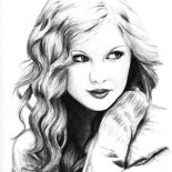 Taylor Swift, Taylor Swift My Favorite Singer Coloring Page: Taylor Swift My Favorite Singer Coloring Page