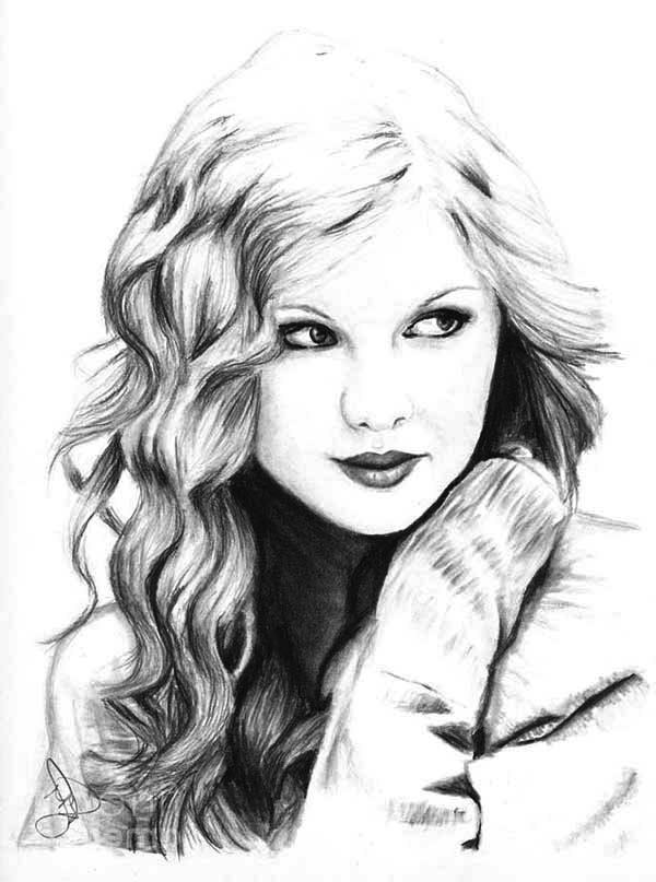 Taylor Swift, : Taylor Swift My Favorite Singer Coloring Page
