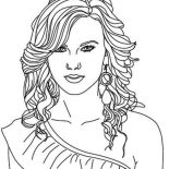 Taylor Swift, Taylor Swift Nominated For Best Album Coloring Page: Taylor Swift Nominated for Best Album Coloring Page