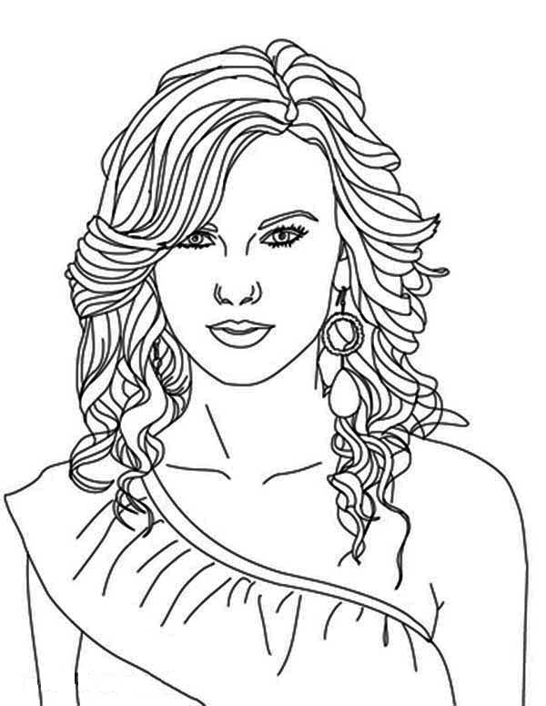 Taylor Swift, : Taylor Swift Nominated for Best Album Coloring Page