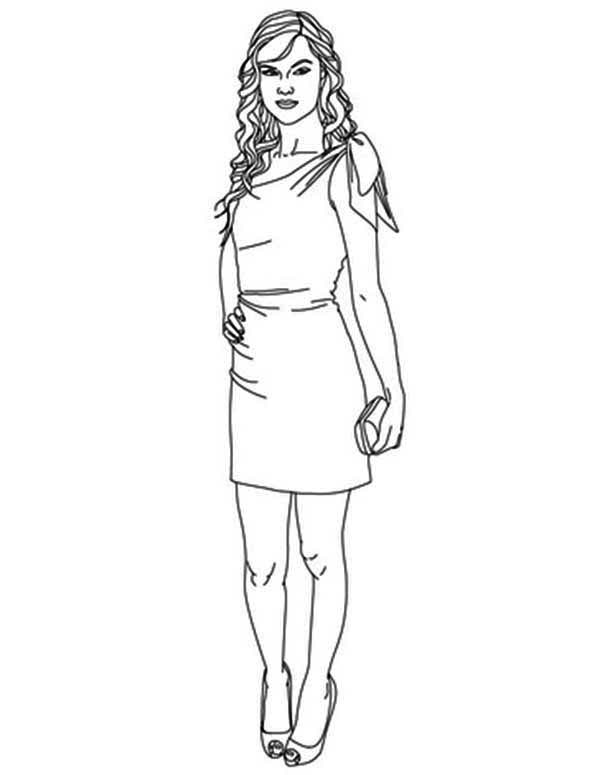 Taylor Swift, : Taylor Swift Pose for Magazine Coloring Page