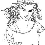 Taylor Swift, Taylor Swift Is Country Singer Coloring Page: Taylor Swift is Country Singer Coloring Page