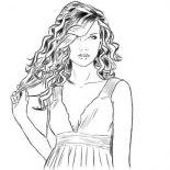 Taylor Swift, Taylor Swift Is So Amazing Coloring Page: Taylor Swift is so Amazing Coloring Page