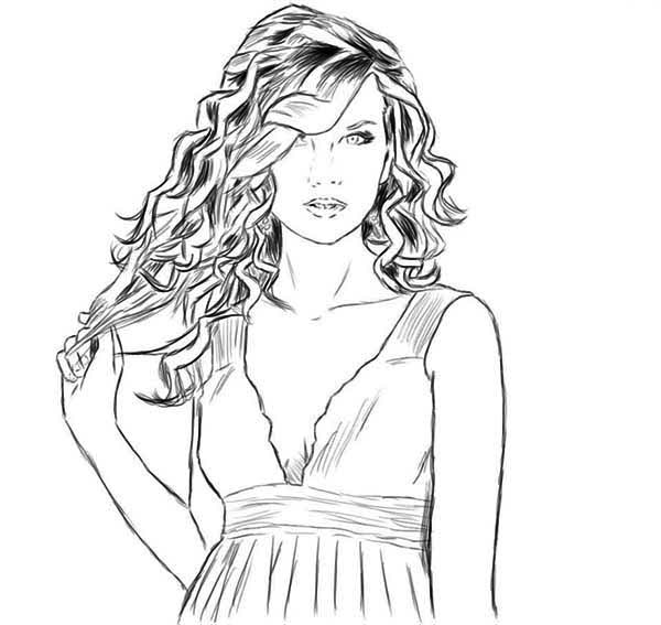 Taylor Swift, : Taylor Swift is so Amazing Coloring Page