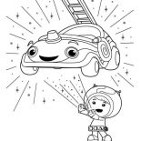Team Umizoomi, Team Umizoomi Beloved Car Coloring Page: Team Umizoomi Beloved Car Coloring Page