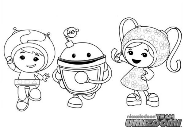 Team Umizoomi, : Team Umizoomi Coloring Page for Kids
