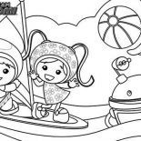 Team Umizoomi, Team Umizoomi Get Sail With Bot Coloring Page: Team Umizoomi Get Sail with Bot Coloring Page