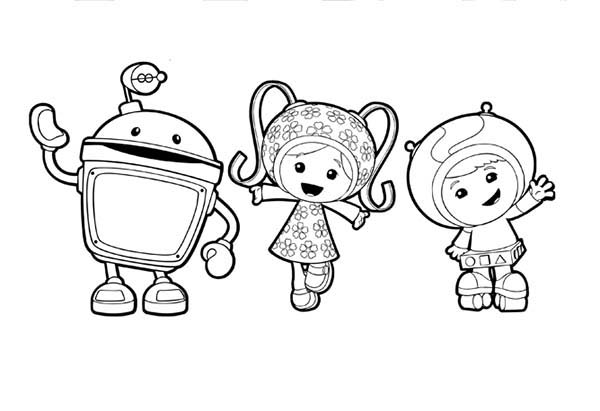 Team Umizoomi Greeting You All Guys Coloring Page Color Luna
