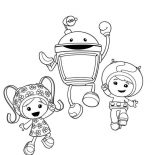Team Umizoomi, Team Umizoomi Jump Together Coloring Page: Team Umizoomi Jump Together Coloring Page