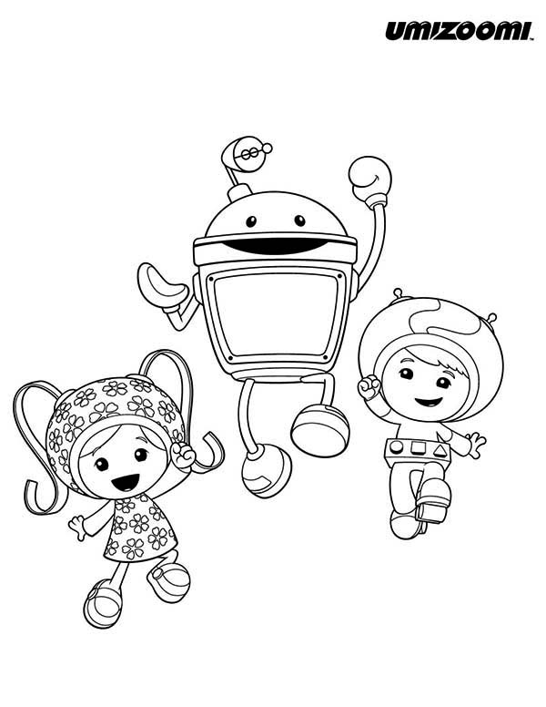 Team Umizoomi, : Team Umizoomi Jump Together Coloring Page