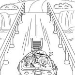 Team Umizoomi, Team Umizoomi Ride Umi The Car Out Of Town Coloring Page: Team Umizoomi Ride Umi the Car Out of Town Coloring Page