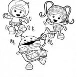Team Umizoomi, Team Umizoomi Is Having Fun Together Coloring Page: Team Umizoomi is Having Fun Together Coloring Page