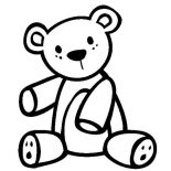 Teddy Bear, Teddy Bear Coloring Page For Kids: Teddy Bear Coloring Page for Kids