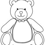 Teddy Bear, Teddy Bear Want To Have Breakfast Coloring Page: Teddy Bear Want to Have Breakfast Coloring Page
