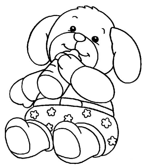 Teddy Bear, : Teddy Bear Wearing Boxer Coloring Page