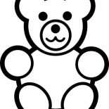 Teddy Bear, Teddy Bear For Little Brother Coloring Page: Teddy Bear for Little Brother Coloring Page