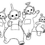 Teletubbies, Teletubbies Coloring Page For Kids: Teletubbies Coloring Page for Kids
