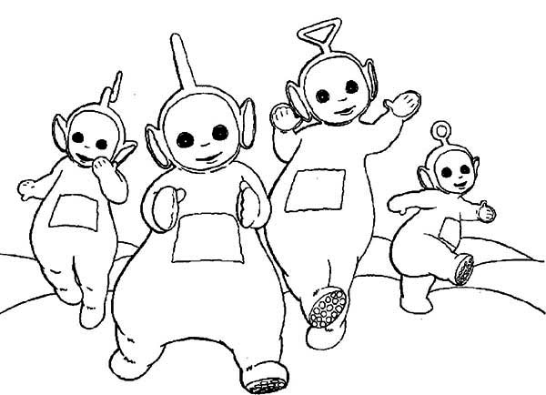 Teletubbies, : Teletubbies Coloring Page for Kids