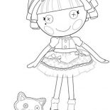 Lalaloopsy, Thats Perfectly Perfect Say Jewel Sparkles In Lalaloopsy Coloring Page: Thats Perfectly Perfect say Jewel Sparkles in Lalaloopsy Coloring Page