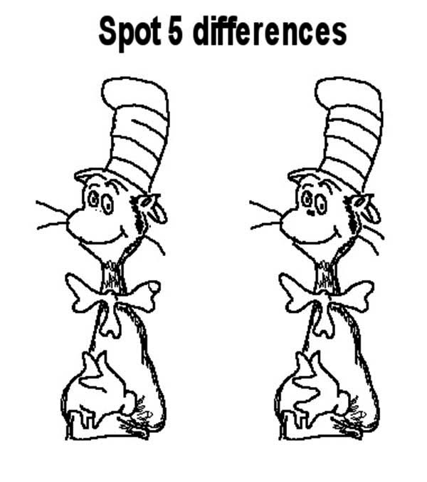 The Cat in the Hat, : The Cat in the Hat Game Coloring Page