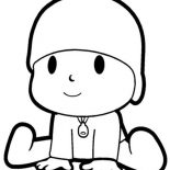 Pocoyo, The Curious Pocoyo Coloring Page: The Curious Pocoyo Coloring Page