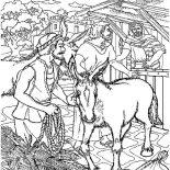 Palm Sunday, The Donkey That Jesus Rode On Palm Sunday Coloring Page: The Donkey that Jesus Rode on Palm Sunday Coloring Page
