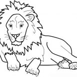 Lion, The Great King Of Jungle Lion Coloring Page: The Great King of Jungle Lion Coloring Page
