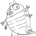 Monsters vs Aliens, The Hhideous Insectosaurus In Monster Vs Aliens Coloring Page: The Hhideous Insectosaurus in Monster vs Aliens Coloring Page