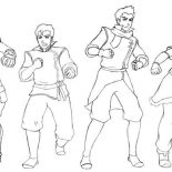 The Legend of Korra, The Legend Of Korra Characters Coloring Page: The Legend of Korra Characters