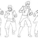 The Legend of Korra, The Legend Of Korra Characters Coloring Page: The Legend of Korra Characters