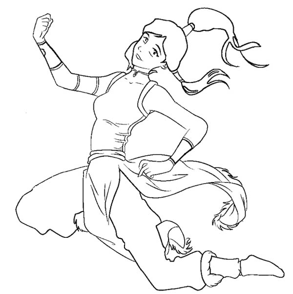 The Legend of Korra, : The Legend of Korra Hovering Coloring Page