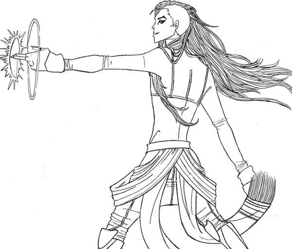 The Legend of Korra, : The Legend of Korra Tambora Coloring Page