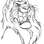Lion, The Lion King Mufasa Is Angry Coloring Page: The Lion King Mufasa is Angry Coloring Page