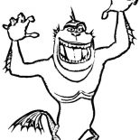 Monsters vs Aliens, The Missing Link From Monster Vs Aliens Coloring Page: The Missing Link from Monster vs Aliens Coloring Page