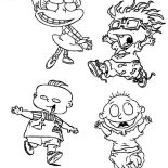 Rugrats, The Rugrats Characters Coloring Page: The Rugrats Characters Coloring Page