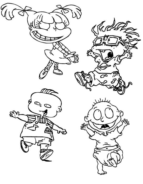 Rugrats, : The Rugrats Characters Coloring Page