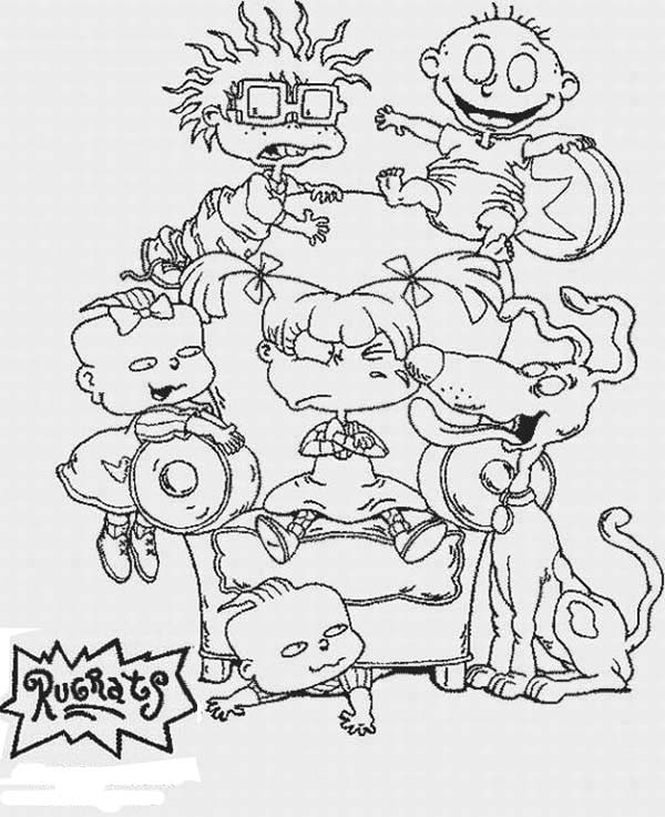 Rugrats, : The Rugrats Coloring Page for Kids