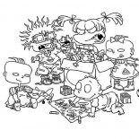 Rugrats, The Rugrats Playing Together Coloring Page: The Rugrats Playing Together Coloring Page