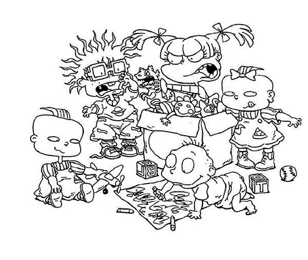 Rugrats, : The Rugrats Playing Together Coloring Page