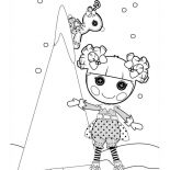 Lalaloopsy, The Snow Trees Are Sew Pretty Lalaloopsy Coloring Page: The Snow Trees are Sew Pretty Lalaloopsy Coloring Page