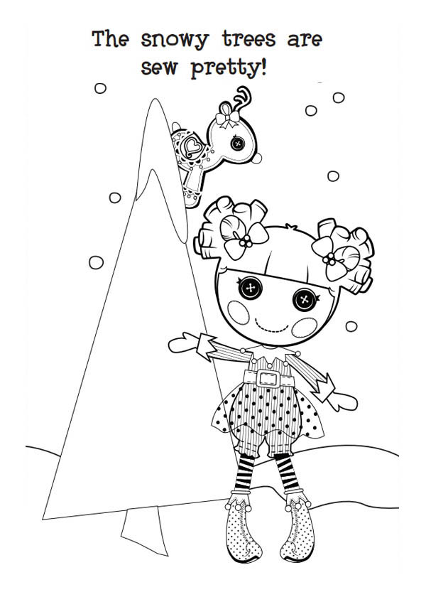 Lalaloopsy, : The Snow Trees are Sew Pretty Lalaloopsy Coloring Page