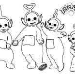 Teletubbies, The Teletubbies The Movie Coloring Page: The Teletubbies The Movie Coloring Page